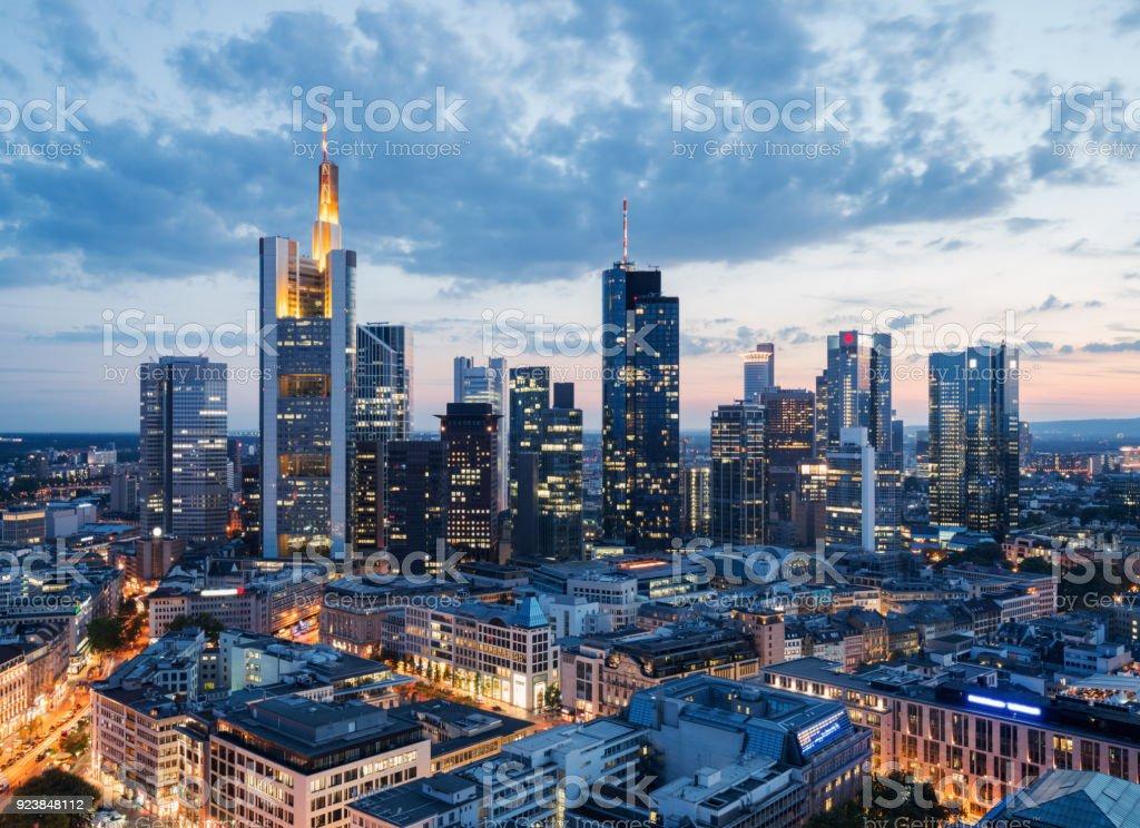 Skyline von Frankfurt (Main) Lizenzfreies stock-foto