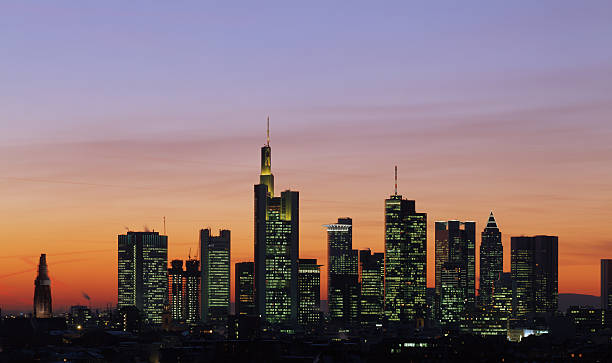 frankfurt skyline bilder und stockfotos istock. Black Bedroom Furniture Sets. Home Design Ideas