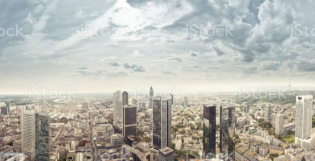 Frankfurt skyscrapers stock photo