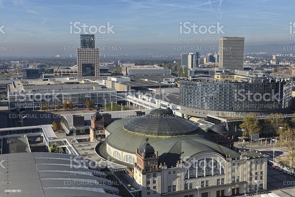 Frankfurt Trade Fair Ground Messegelände stock photo