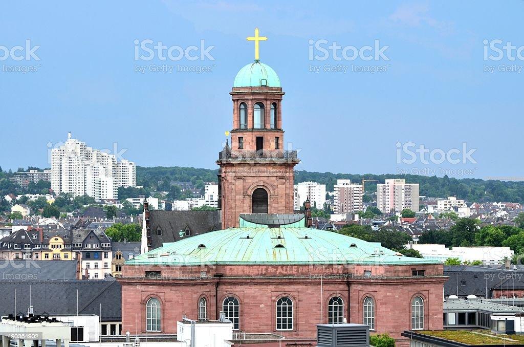 Frankfurter Paulskirche (St. Paul's Church, in Frankfurt) stock photo