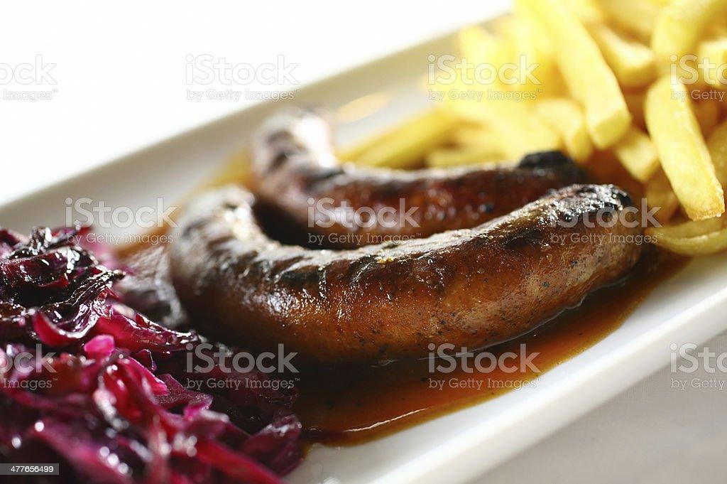 Frankfurter sausages. stock photo