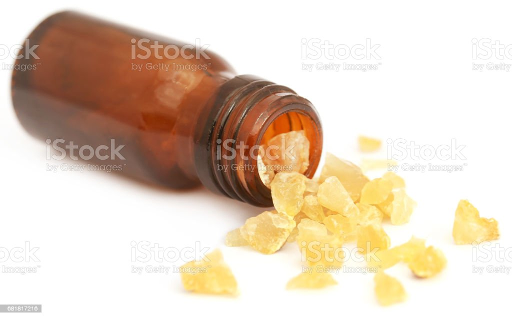 Frankincense dhoop, a natural aromatic resin stock photo