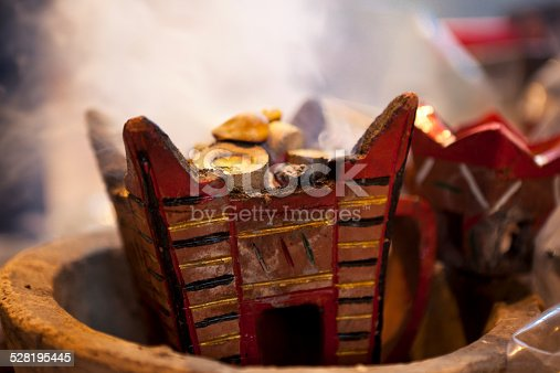 burning frankincense in oman.
