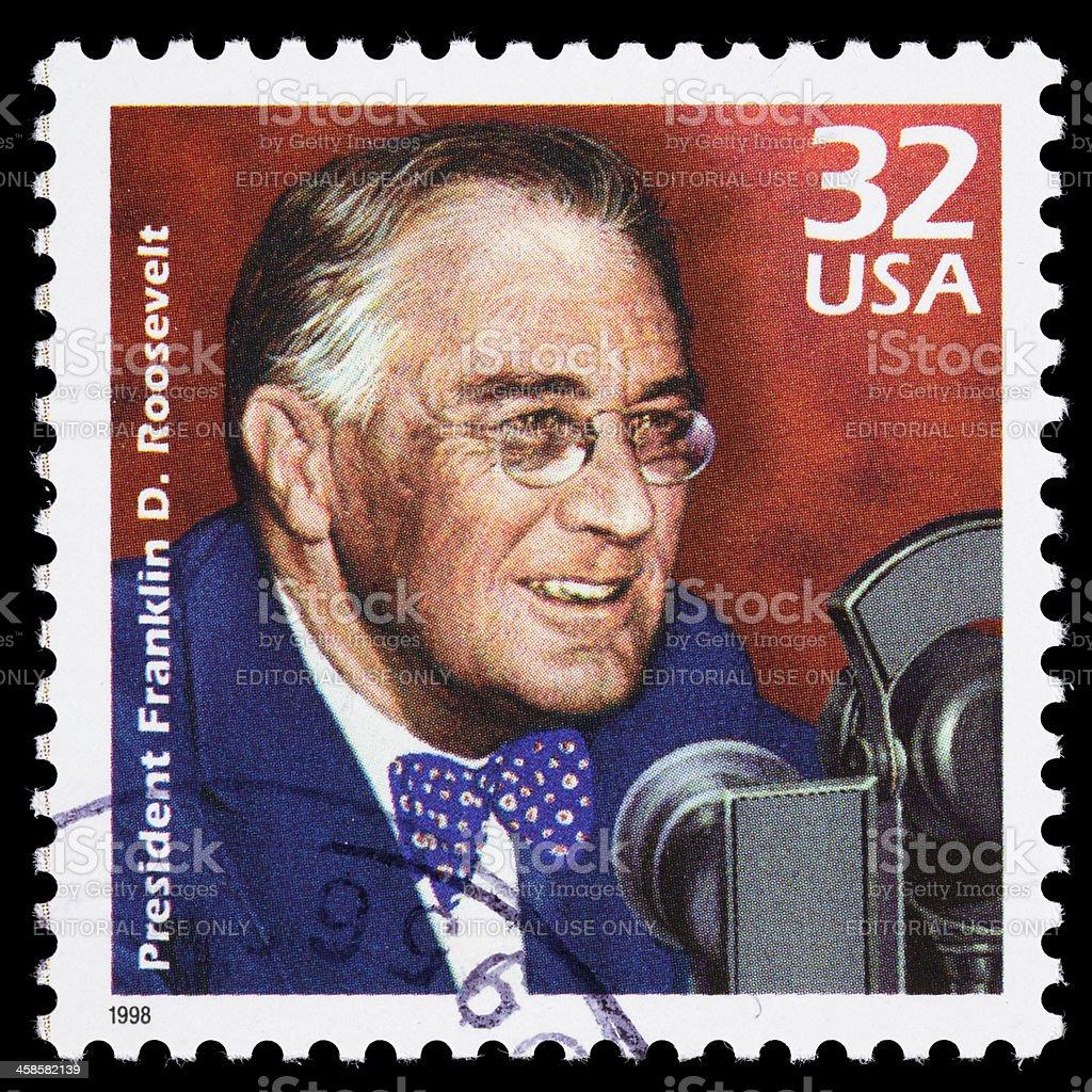 USA Franklin D. Roosevelt (FDR) postage stamp royalty-free stock photo