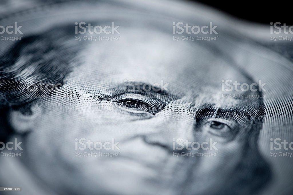 Franklin macro royalty-free stock photo