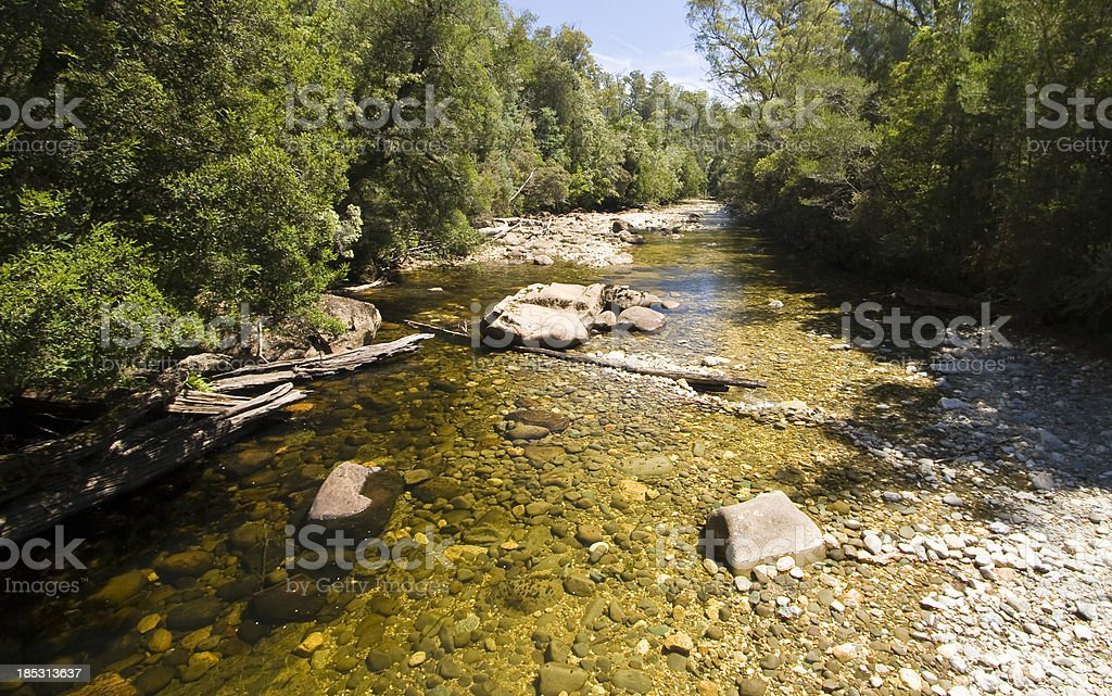 Franklin River stock photo