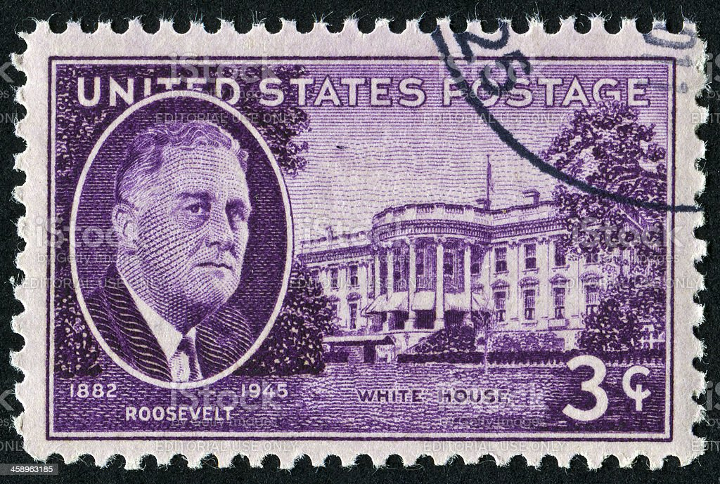 Franklin Roosevelt Stamp royalty-free stock photo