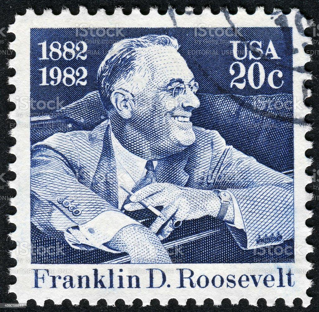 Franklin Roosevelt Stamp royalty-free stock photo