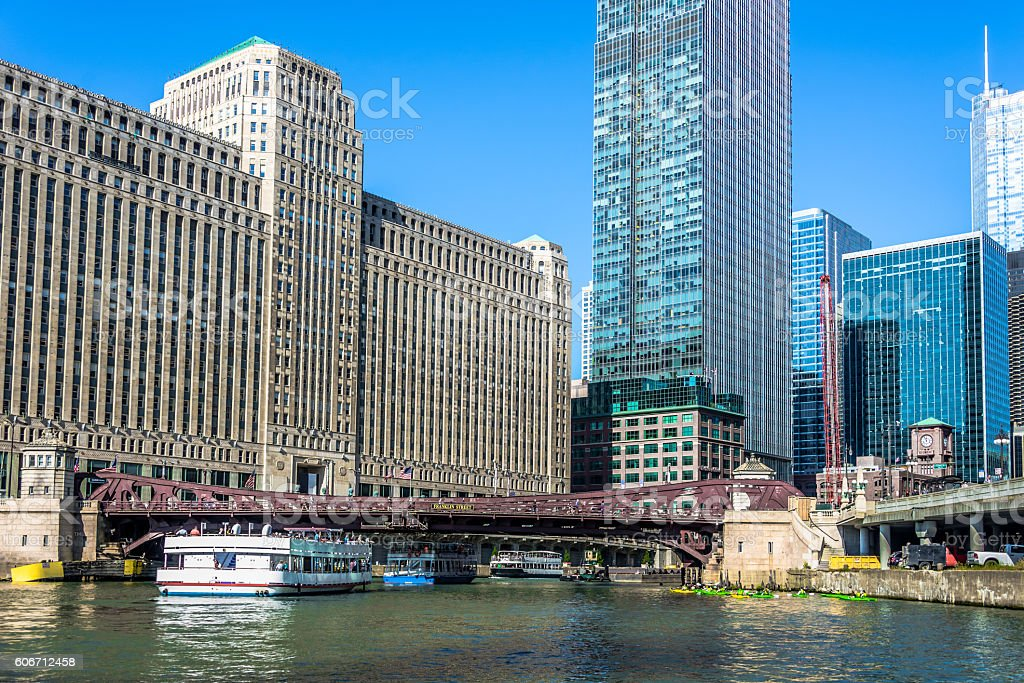 Franklin Street Street Bridge (Close-up) stock photo
