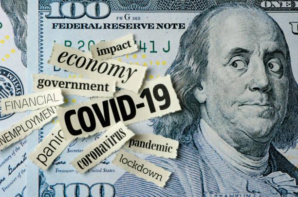 Franklin's fear: COVID-19 stock photo