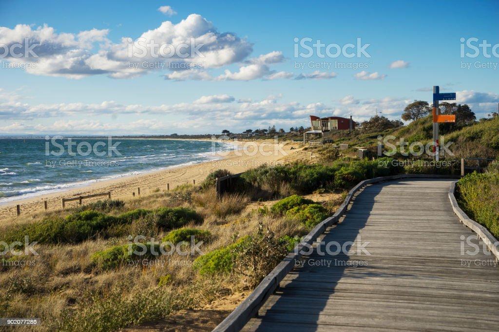 Frankston Beach, Melbourne stock photo