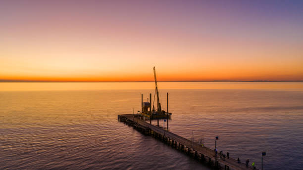 Frankston Beach stock photo