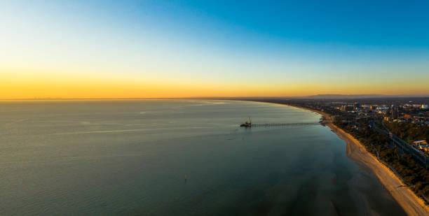 Frankston Beach sunsets stock photo