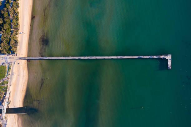 frankston pier antenn - flod vatten brygga bildbanksfoton och bilder