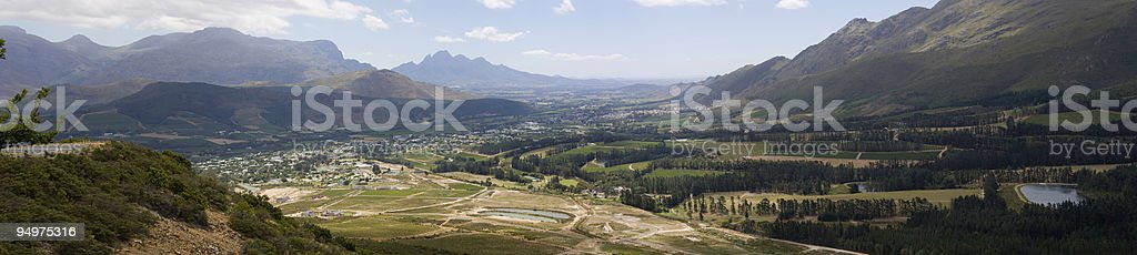 Franschhoek, Wine Country royalty-free stock photo