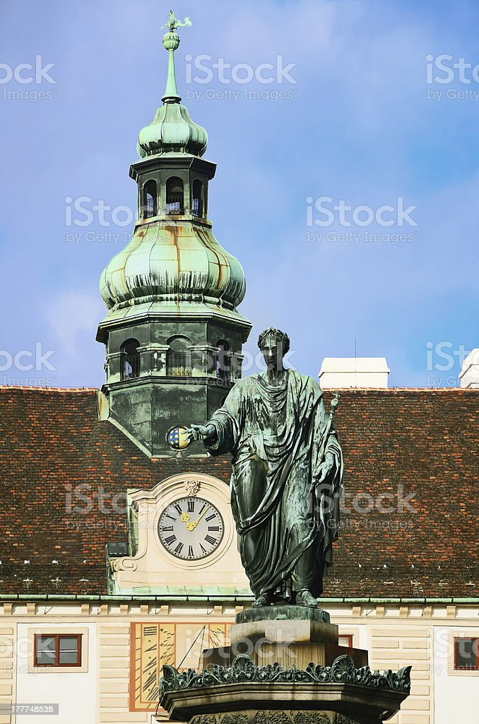 Franz I Monument royalty-free stock photo