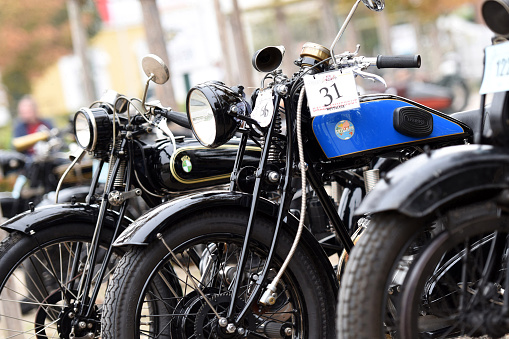 Franz Joseph ride on old motorcycles