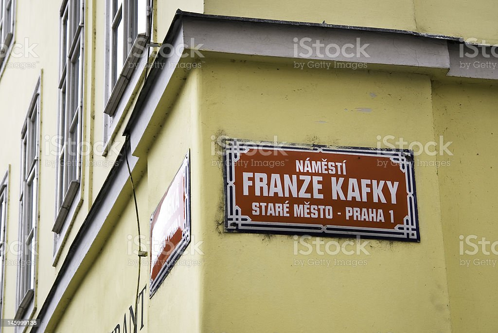 Franz Kafka Straße royalty-free stock photo