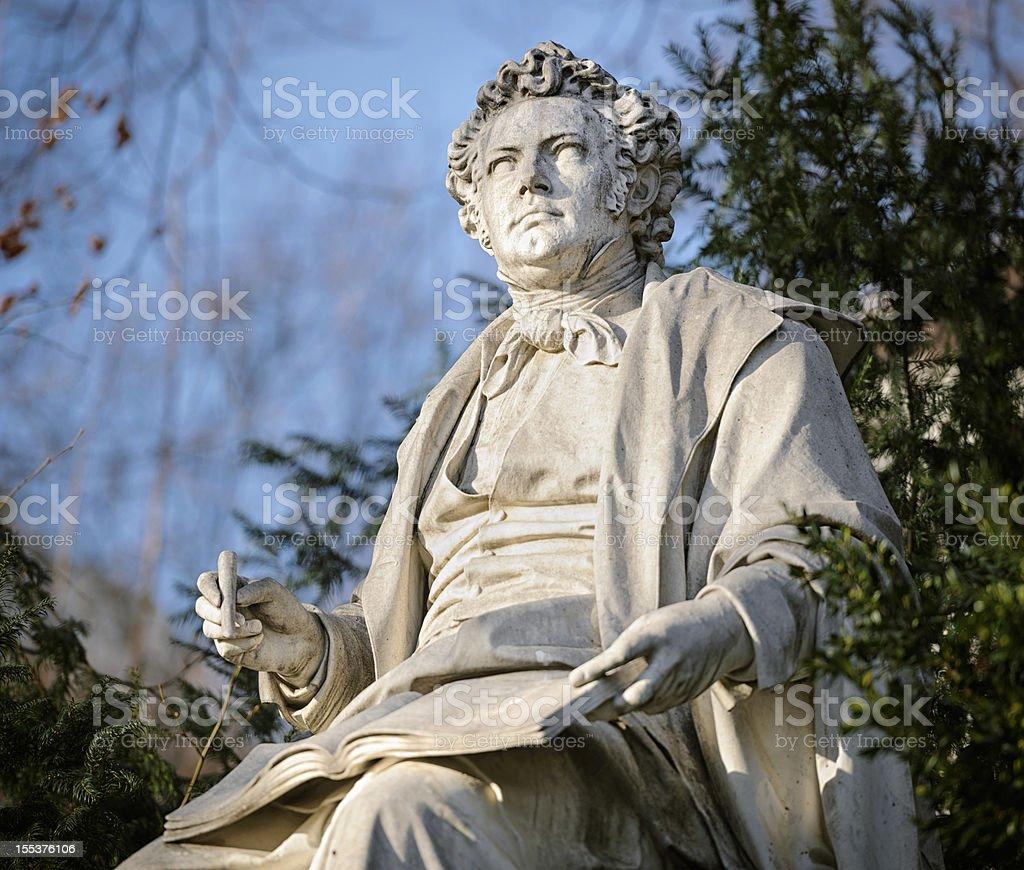 Franz Schubert Statue in Vienna Stadtpark stock photo