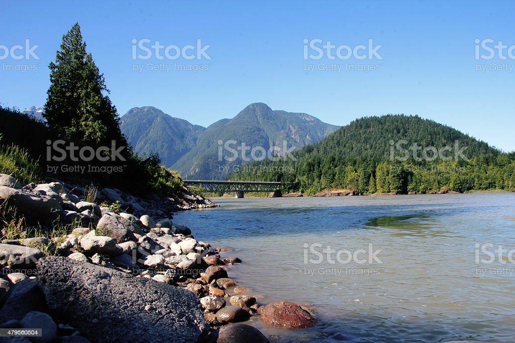 Fraser Bridge stock photo