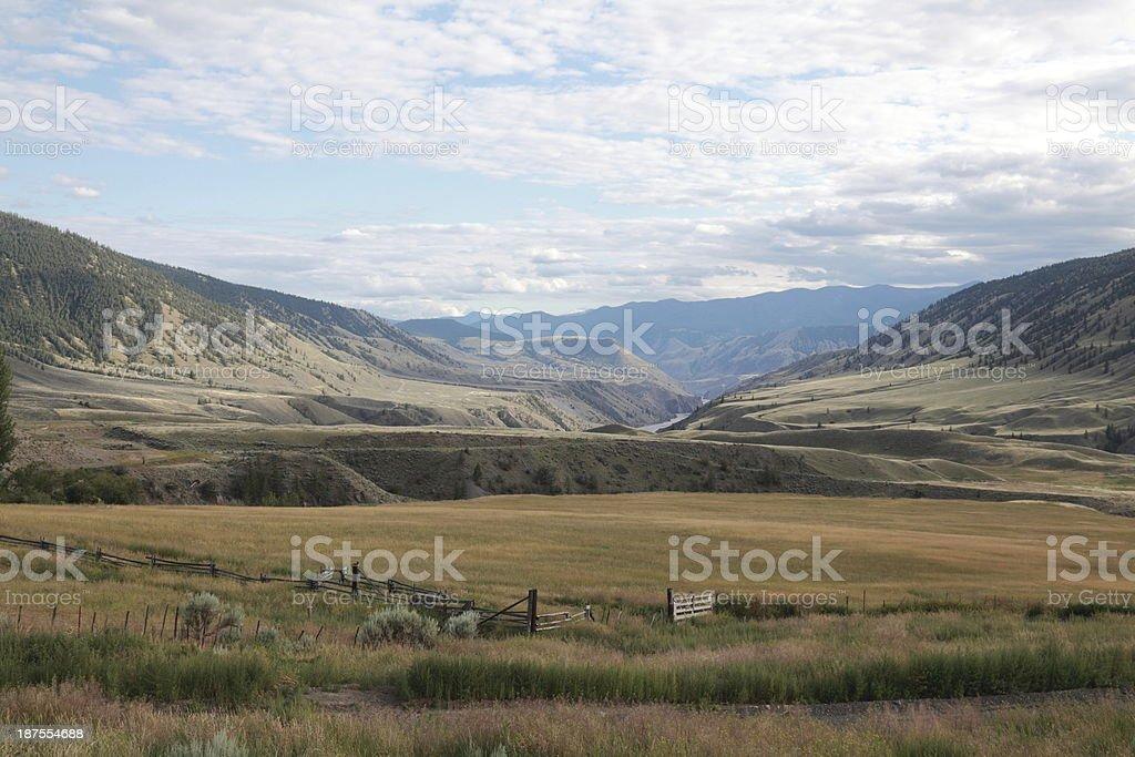 Fraser Canyon near Gang Ranch, B.C. stock photo