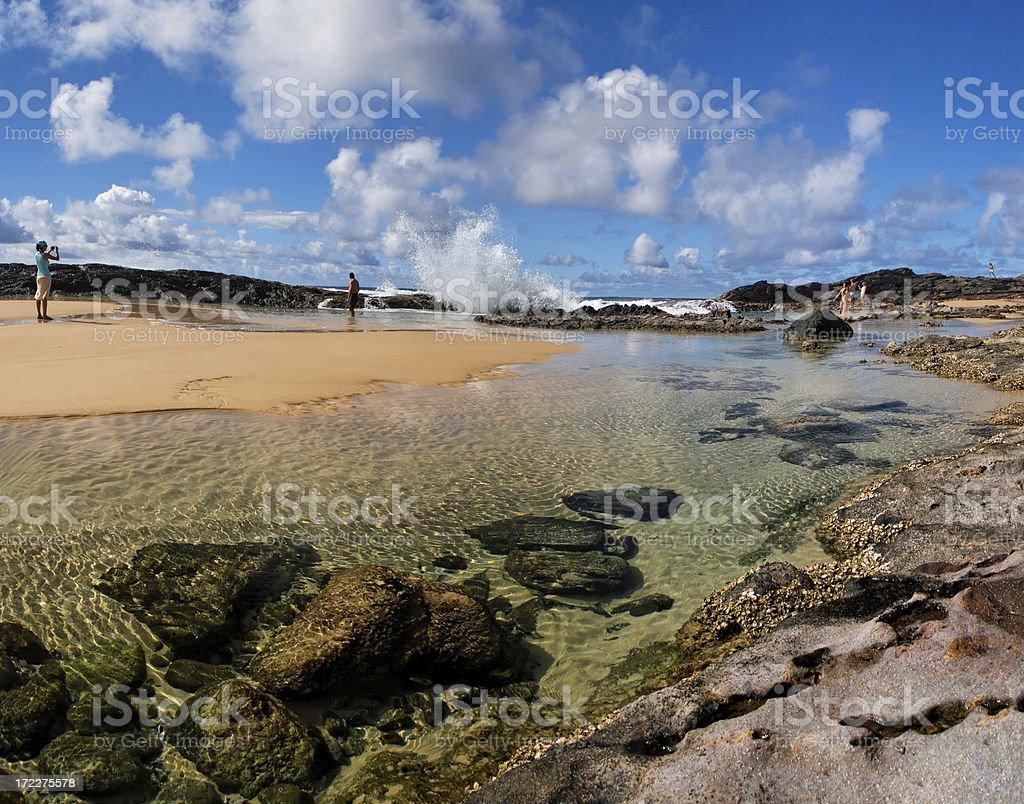 Fraser Island beach stock photo