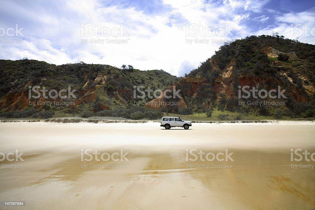 4WD Fraser Island stock photo