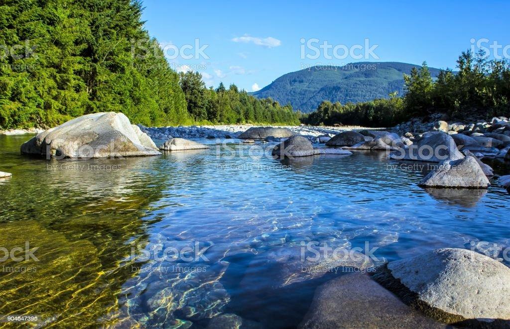 Fraser River British Columbia stock photo