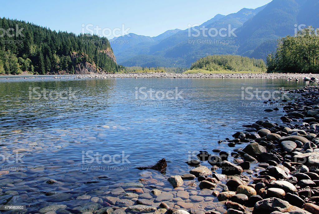 Fraser River in Fraser Canyon stock photo