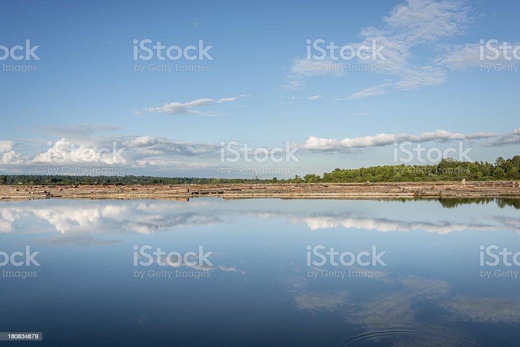 Fraser River royalty-free stock photo