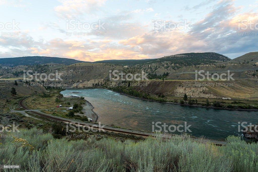 Fraser river royaltyfri bildbanksbilder