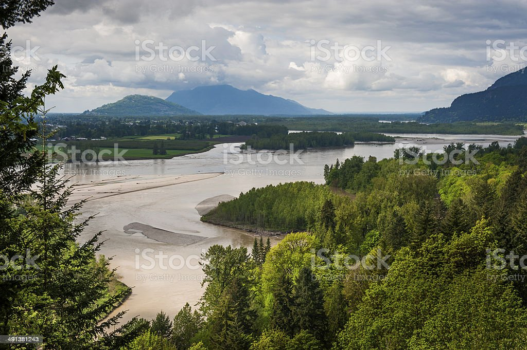 Fraser River Valley stock photo