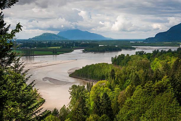 Fraser River Valley stock photo