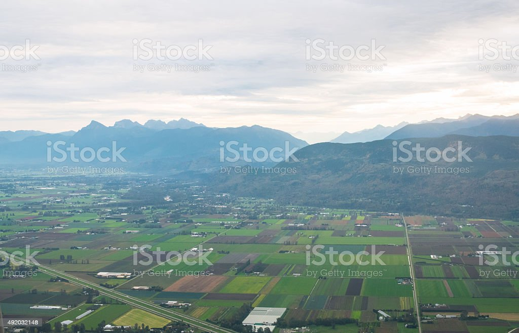Fraser Valley BC Canada Agriculture stock photo
