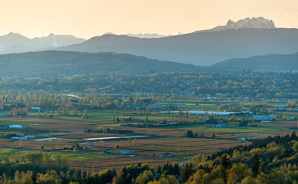 Fraser Valley View stock photo