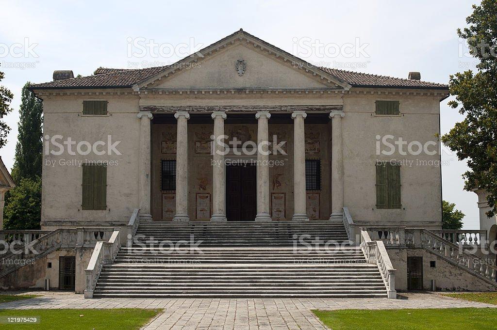Fratta Polesine (Rovigo, Veneto, Italy) - Villa Badoer, facade stock photo