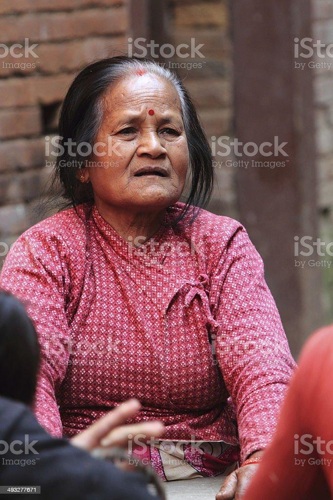 Frau aus Nepal stock photo