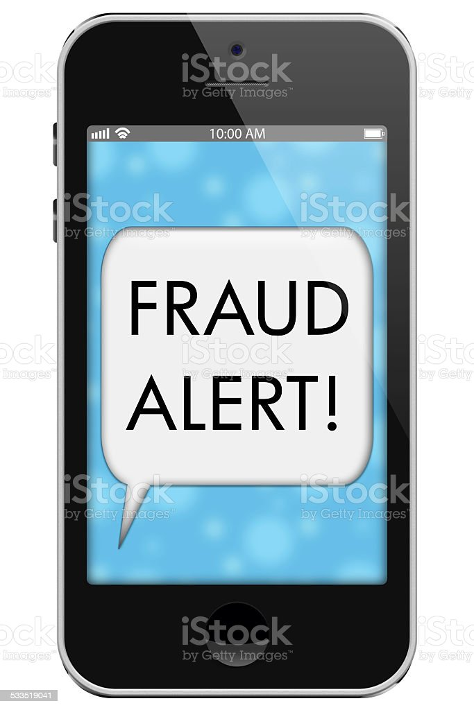 Fraud Alert stock photo