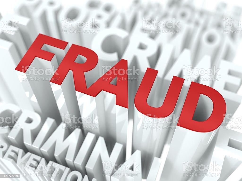 Fraud Background Conceptual Design. royalty-free stock photo