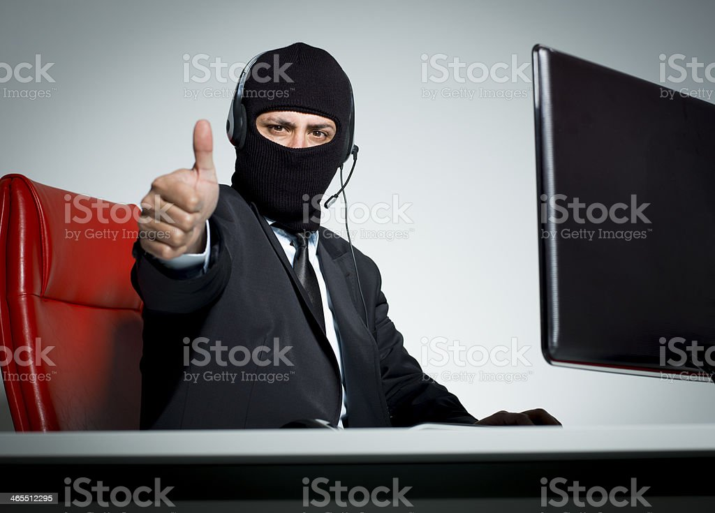 Fraud Call Centre stock photo