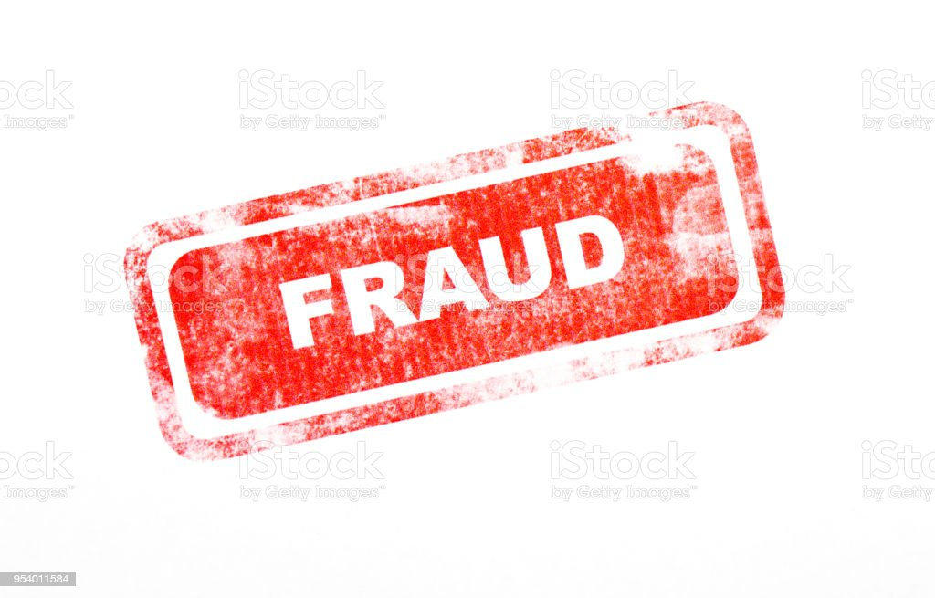 Fraud Ink Stamp stock photo