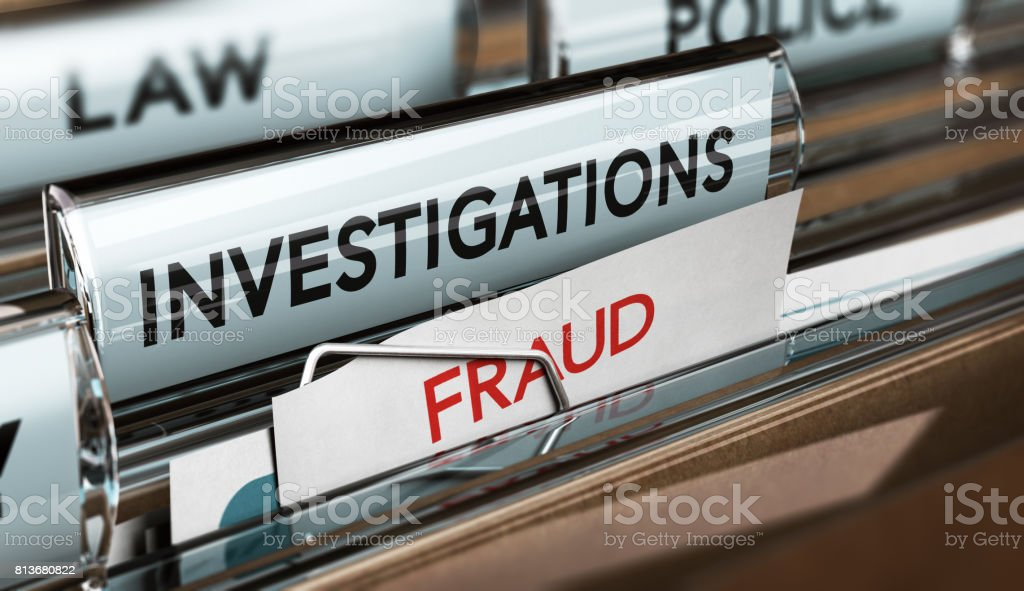 Fraud Investigation, Detective Files stock photo
