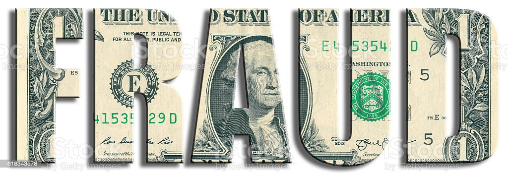 Fraud or money waste crime. US Dollar texture. stock photo