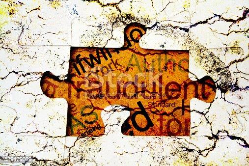 istock Fraud puzzle concept 529479629