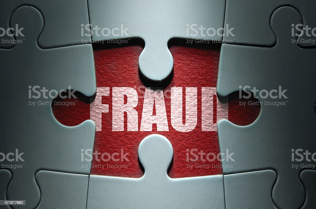 Fraud security concept stock photo
