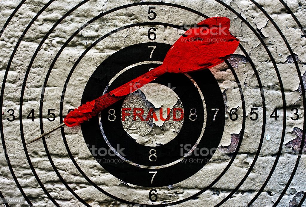 Fraud target concept royalty-free stock photo