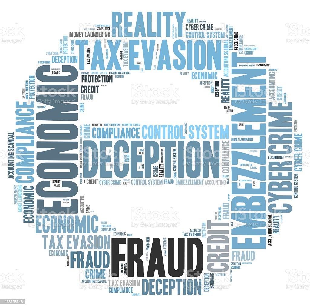 Fraud word cloud royalty-free stock photo