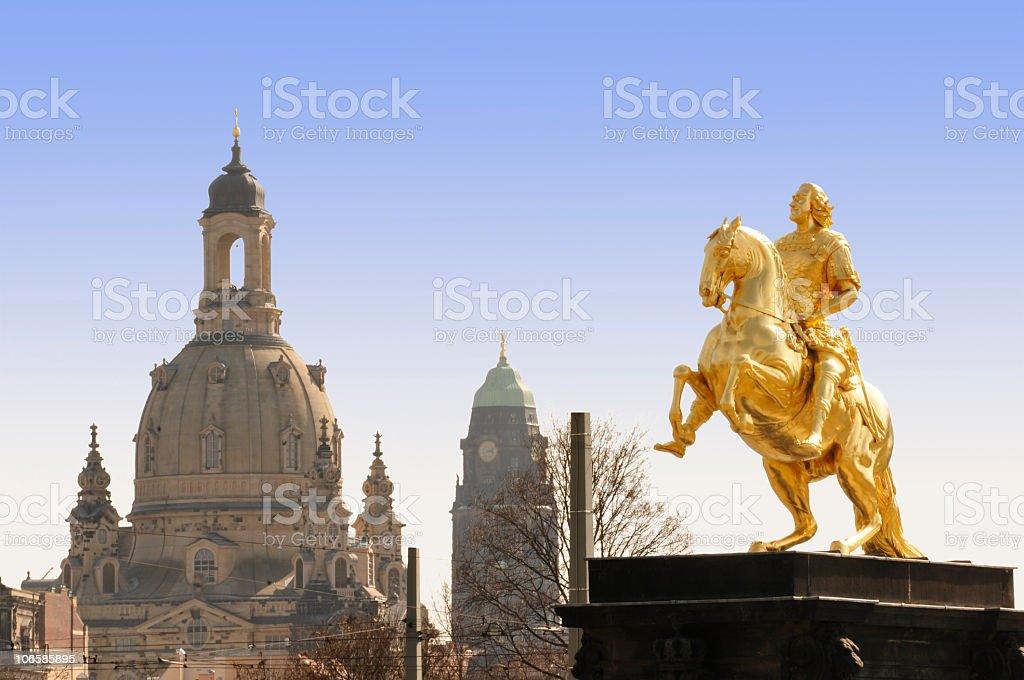 Frauenkirche und Golden Horseman in Dresden – Foto