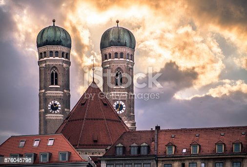 istock Frauenkirche - Cathedral of Our Dear Lady, Munich, Germany 876045798